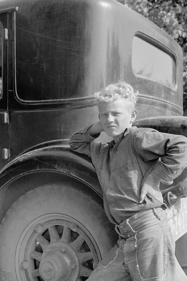 Migrant child from Arkansas, Berrien County, Michigan2 1940