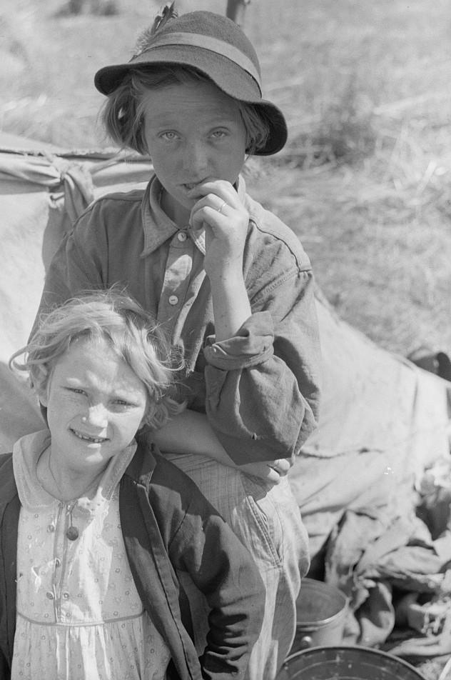 Migrant children, Berrien County, Michigan2 July 1940