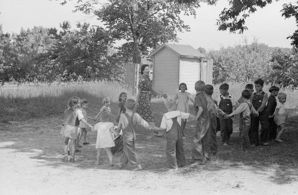 Migrant children at nursery school, Berrien County, Michigan 1940