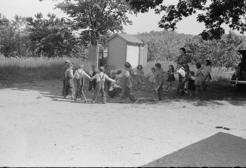 Migrant children at nursery school, Berrien County, Michigan1 1940