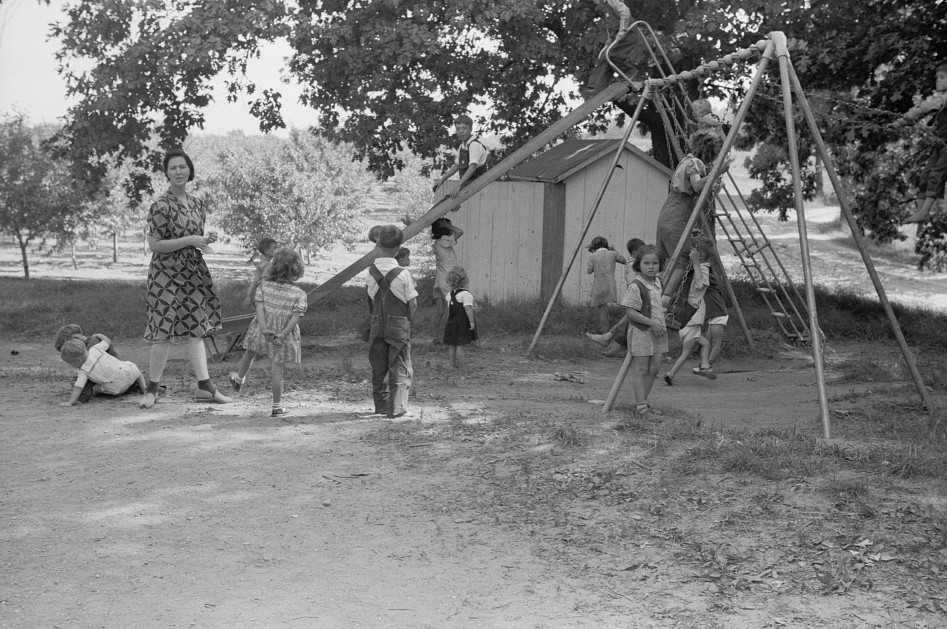 Migrant children at nursery school, Berrien County, Michigan3 1940