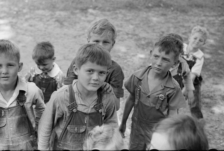 Migrant9 children at nursery school, Berrien County, Michigan