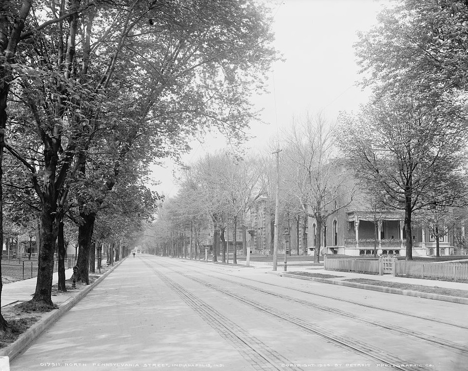 North Pennsylvania Street , Indianapolis, Indiana ca. 1904 Detroit Publishing Company