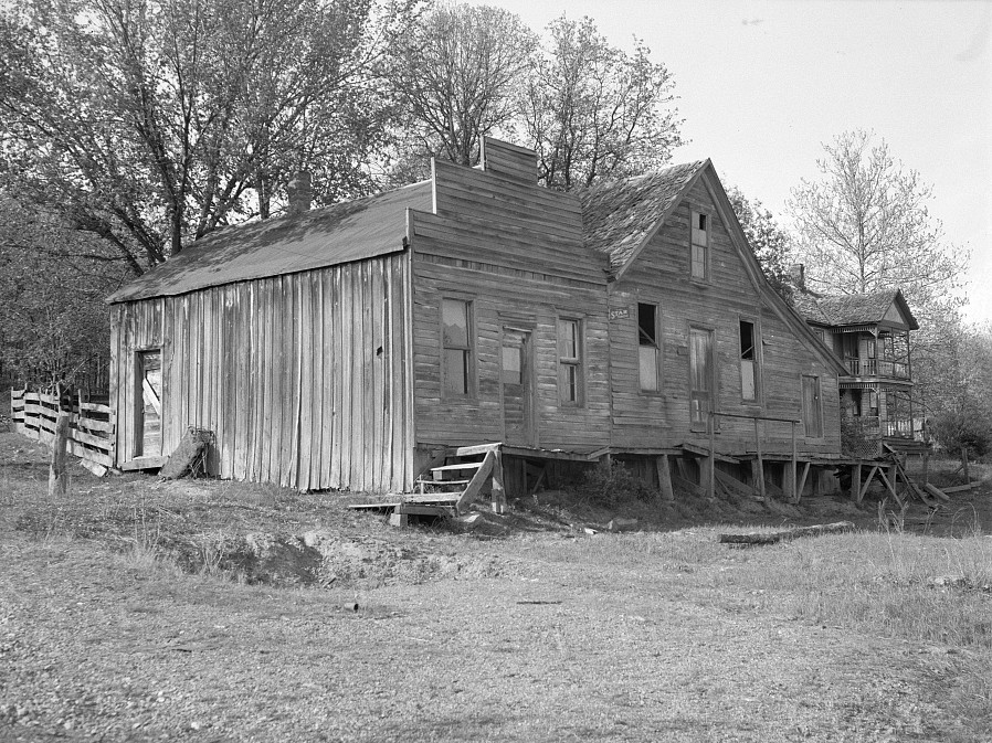 Old store and post office built when a timber industry flourished at Stone Hill, Missouri by Carl Mydans May 1936