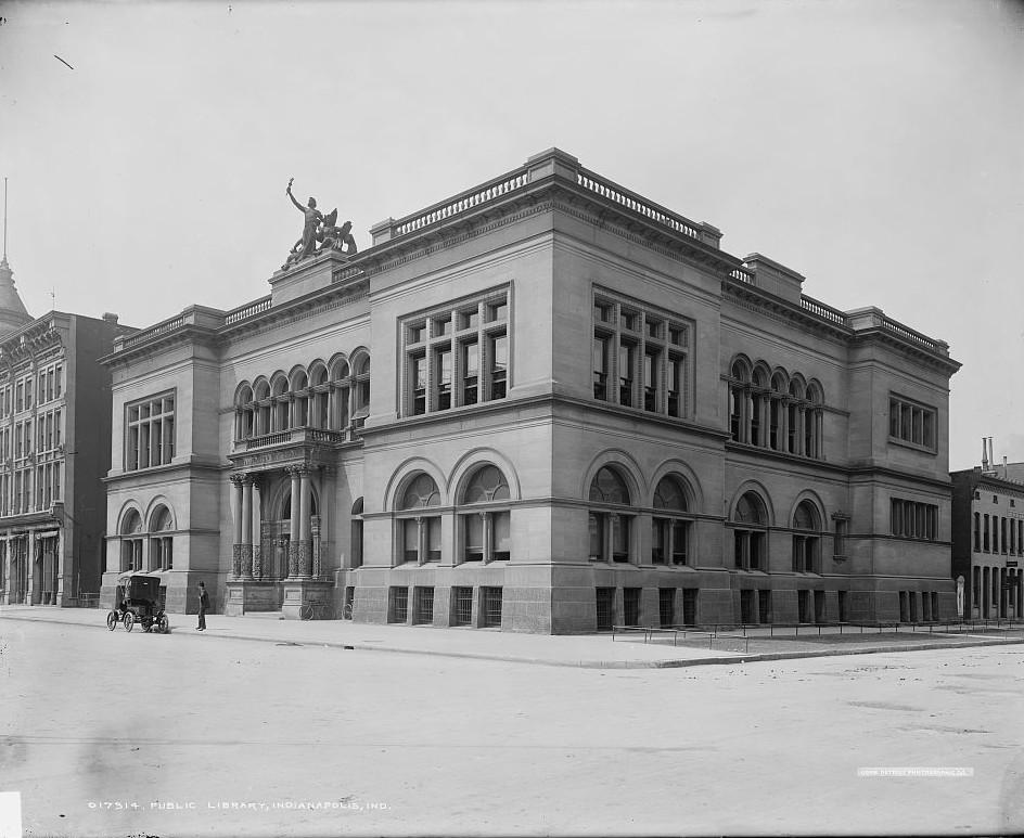 Public Library, Indianapolis, Indiana ca. 1902 Detroit Publishing Company