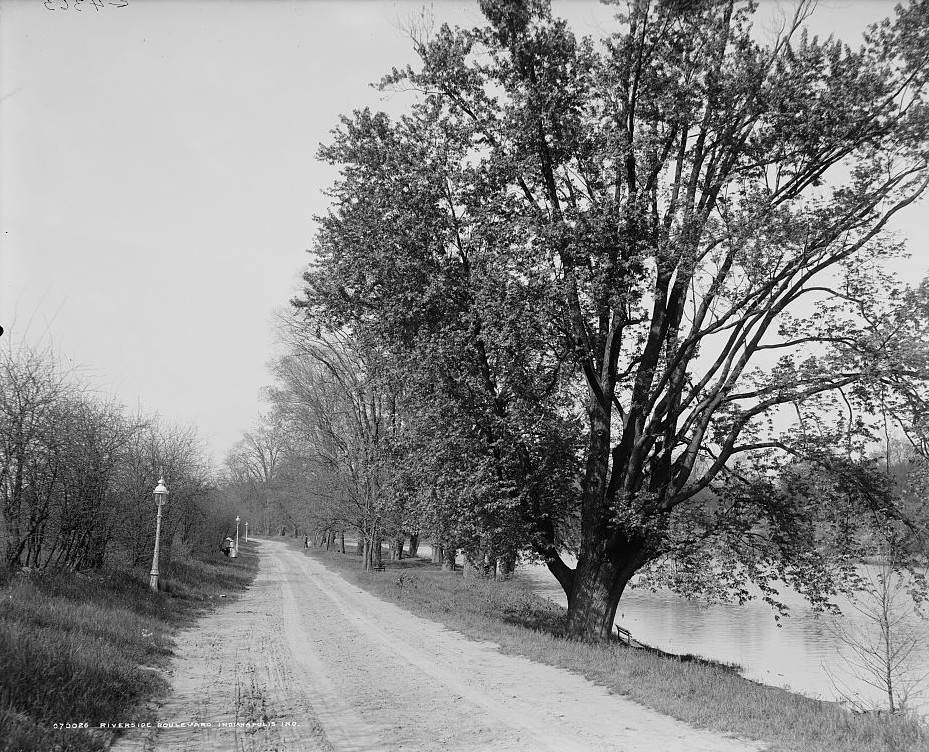 Riverside Boulevard, Indianapolis, Ind. ca. 1890 by Detroit Publishing Company
