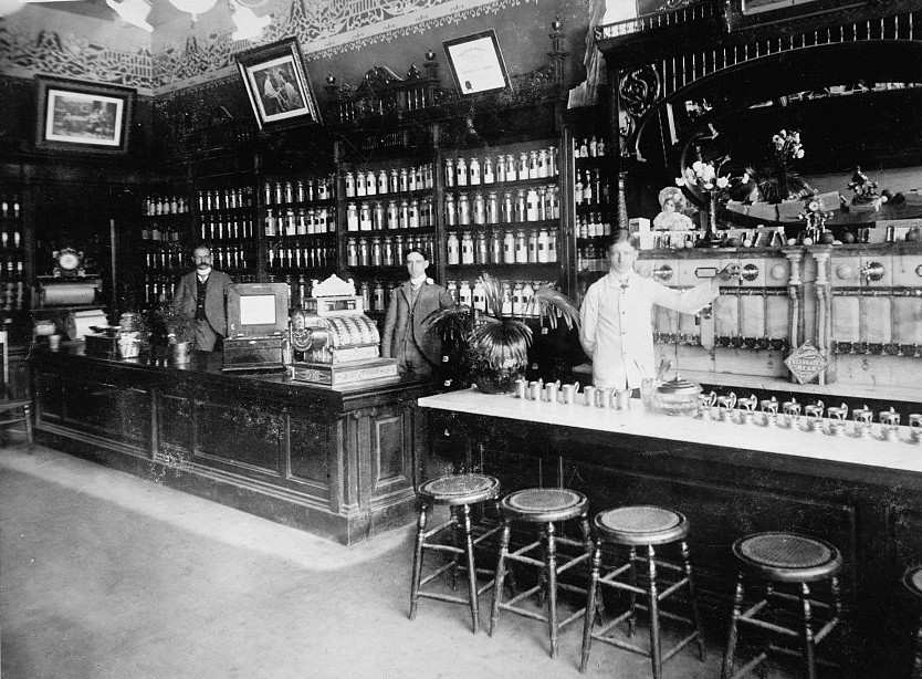 S.C. Cocke drugs, Fort Wayne, Indiana 1895 by Detroit Publishing Company