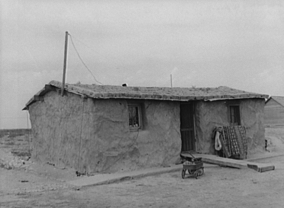 Sod house of the Schoenfeldts, FSA (Farm Security Administration) clients. Sheridan County, Kansas russell lee, 1939