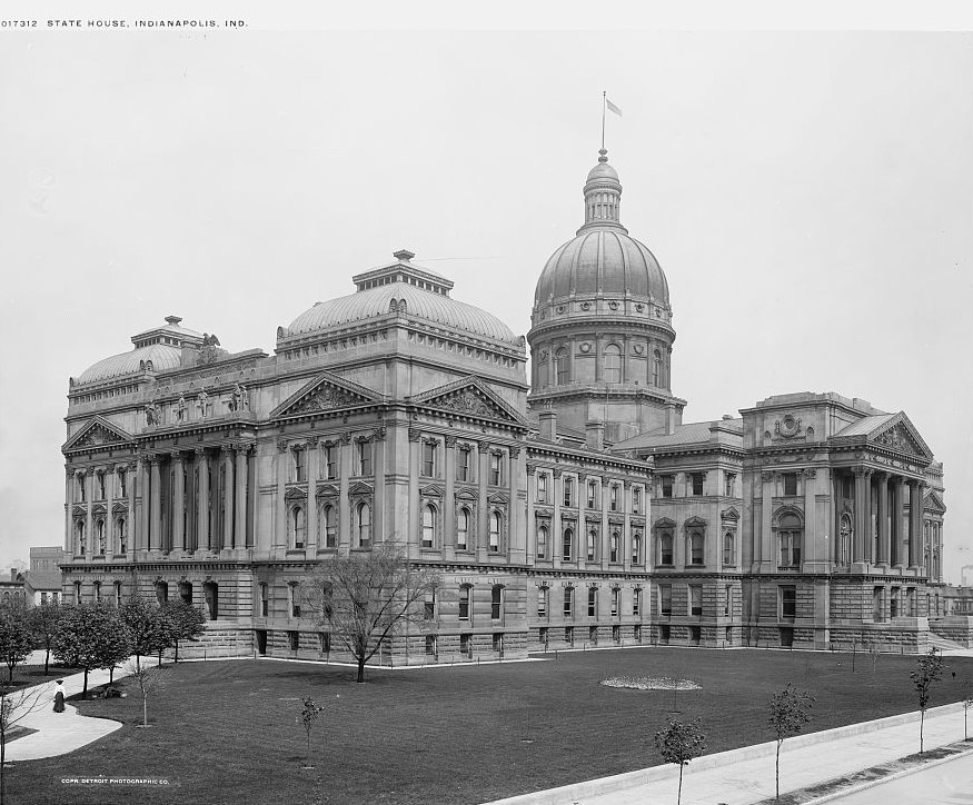 State House, Indianapolis, Indiana ca. 1900 Detroit Publishing Company