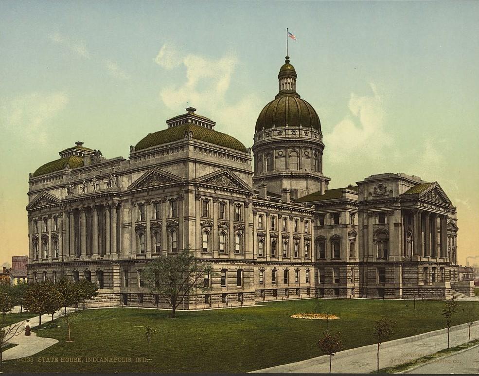 State House, Indianapolis, Indiana ca. 1904 Detroit Publishing Company
