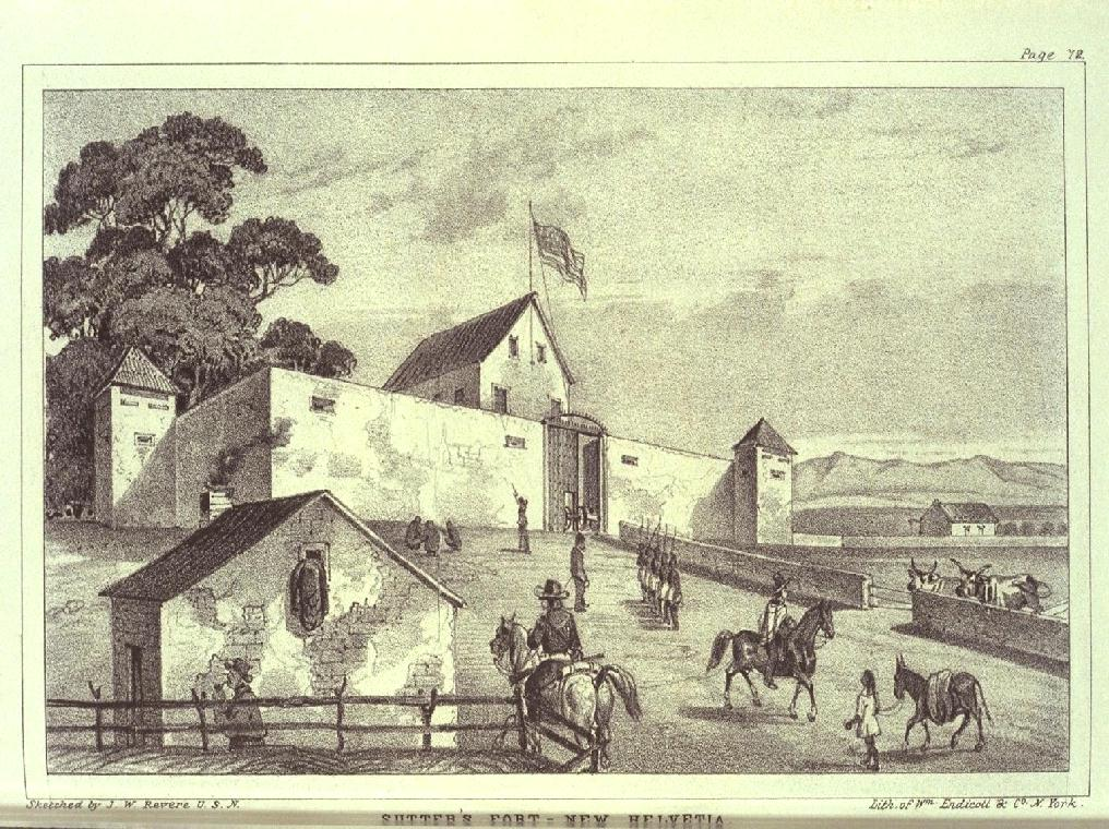 Sutter's fort 1849