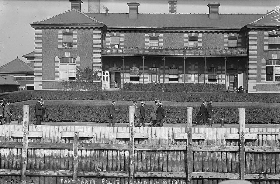 Taft party, Ellis Island N.Y. Oct 18, 1910