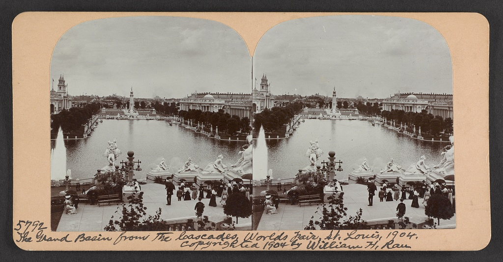 The Grand Basin from the cascades, World's Fair, St. Louis, 1904
