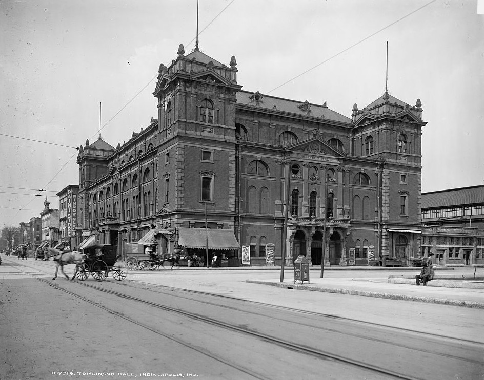 Tomlinson Hall, Indianapolis, Indiana between ca. 1904 Detroit Publishing Company