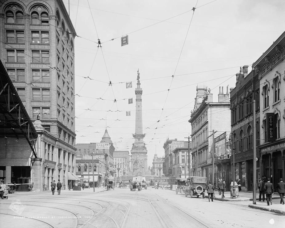 West Market Street, Indianapolis, Indiana ca. 1904 Detroit Publishing Company