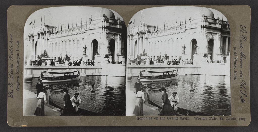 gondolas at worlds fair st. louis 1904