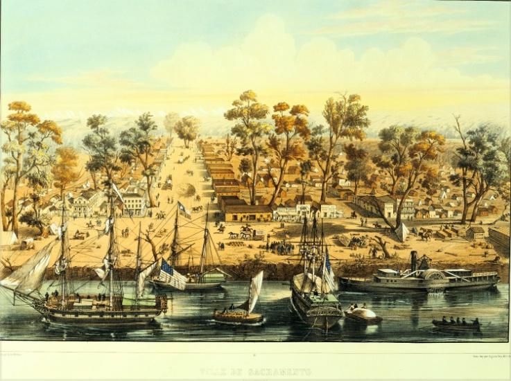 waterfront Sacramento, Ca 1849