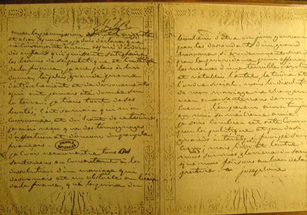 1809 - Lettre de joséphine a Napoleon