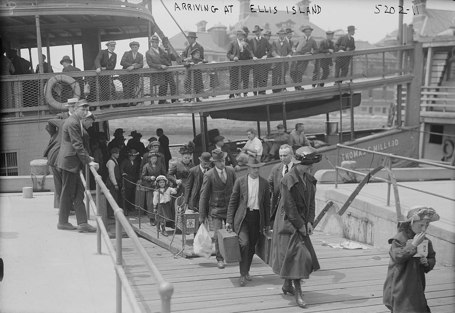 Arriving at Ellis Island 1900