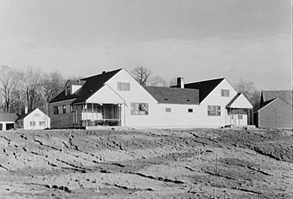 Asbestos board house. Greenhills, Ohio feb 1937 russell lee