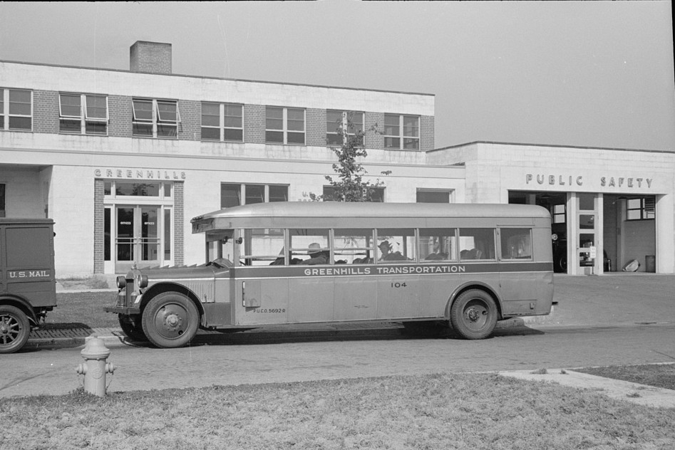 Bus which ran between Cincinnati and Greenhills, Ohio October 1938 by photographer John Vachon