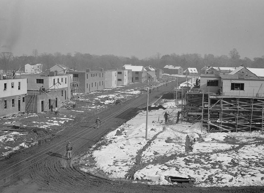 Construction on the Greenhills project. Ohio Dec. 1936 brice martin