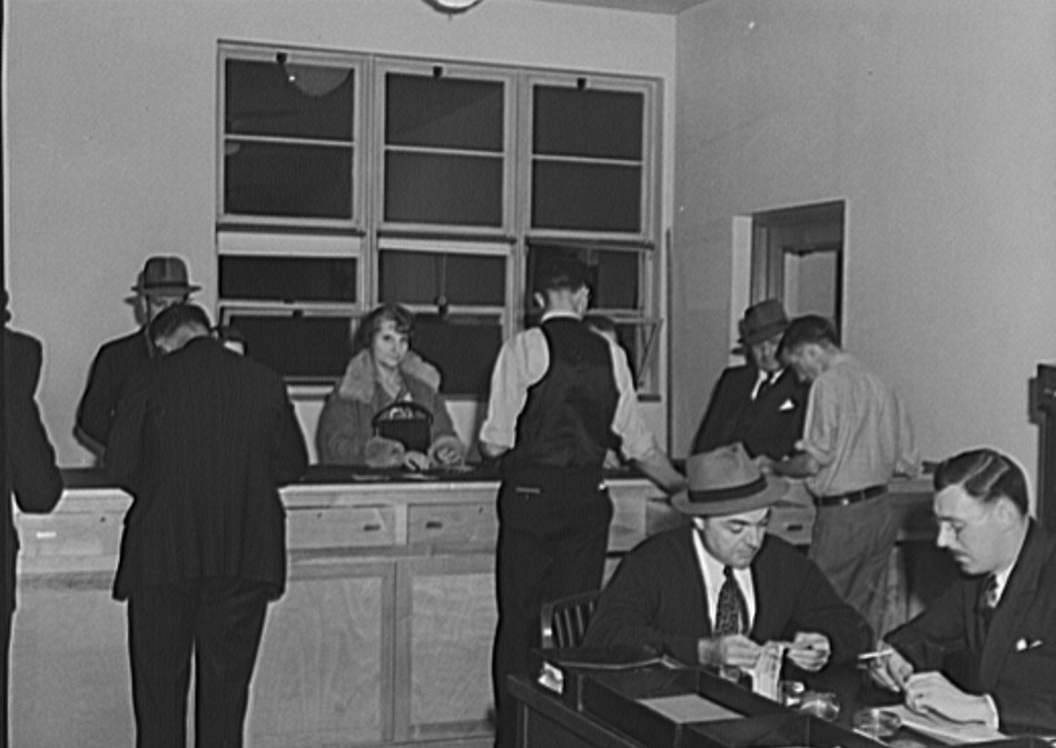 Credit Union at Greenhills, Ohio October 1939 by photographer John Vachon