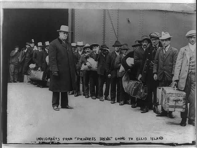 Ellis Island, N.Y. - immigrants from Princess Irene2