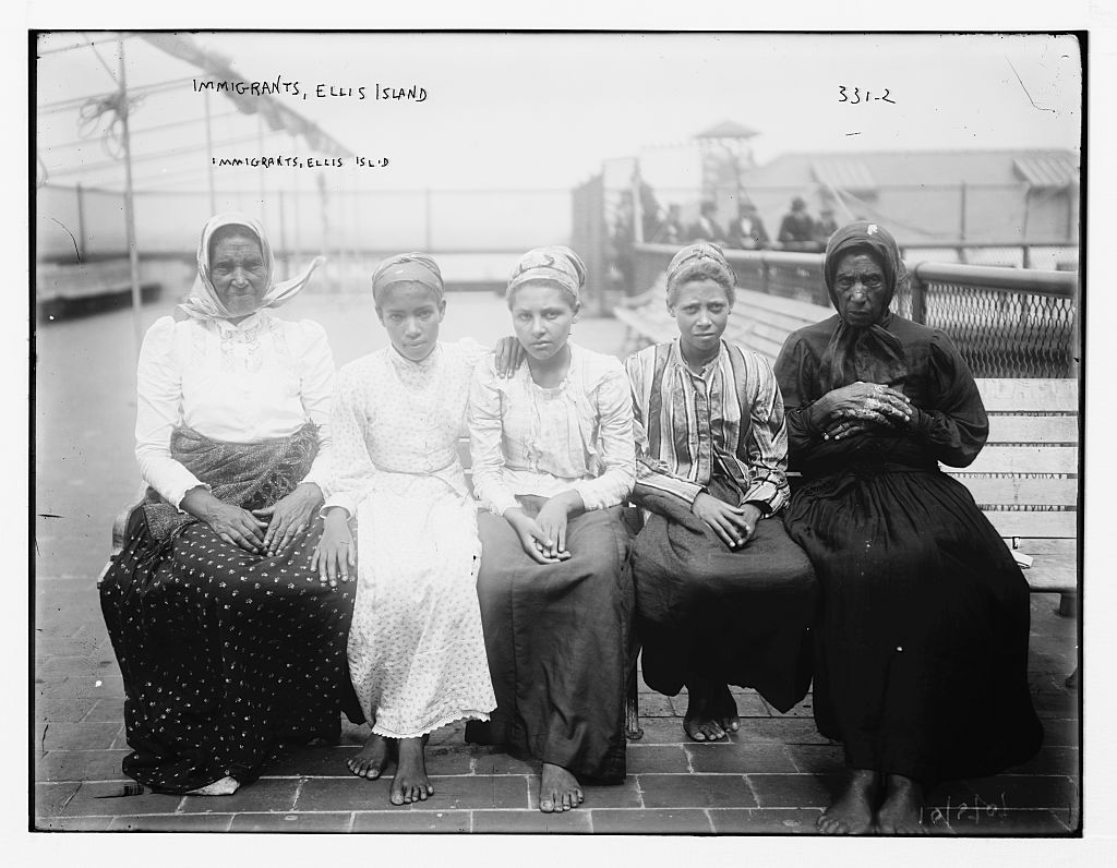 Ellis Island ca. 1910 by photographer George Grantham