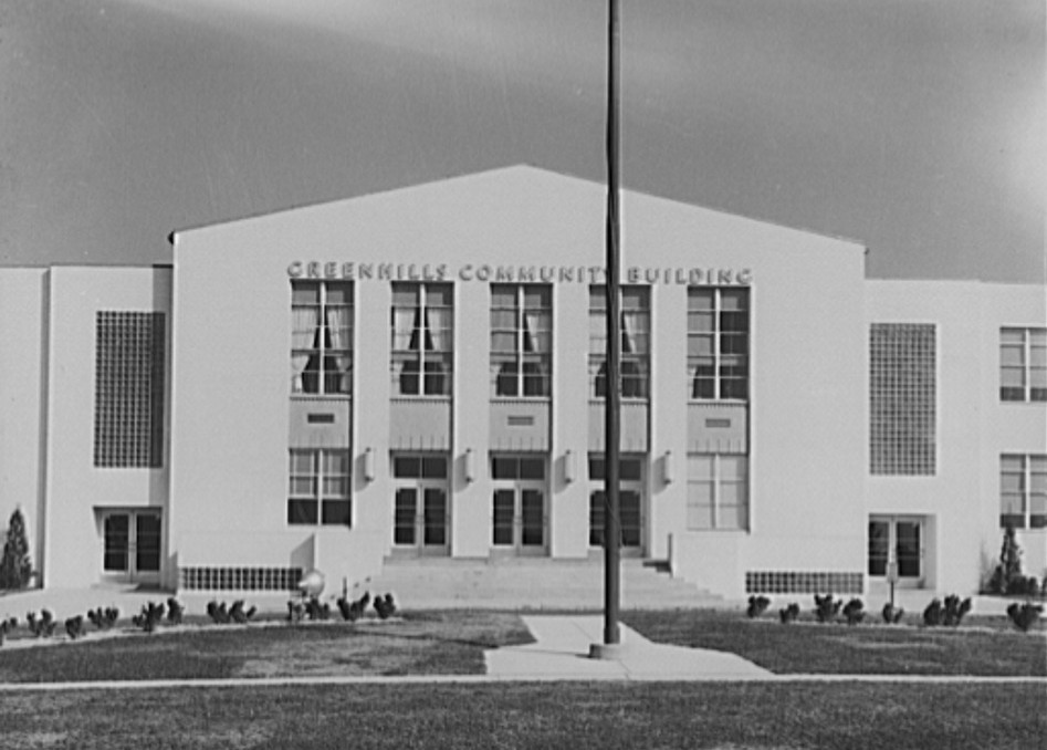 Greenhills community building. Ohio October, 1938 John Vachon photographer