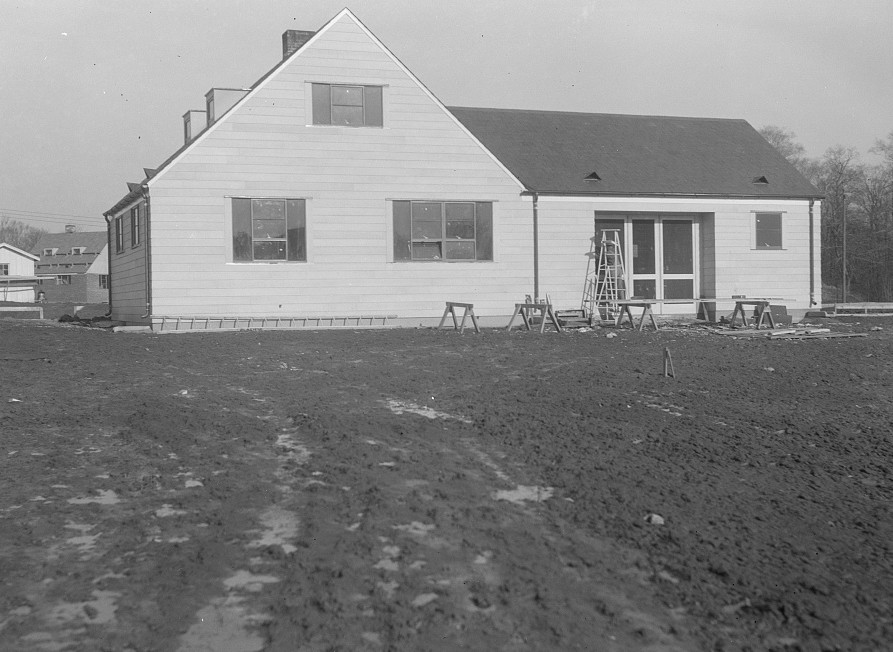 House nearing completion. Greenhills, Ohio Dec, 1936 by photographer Brice Martin