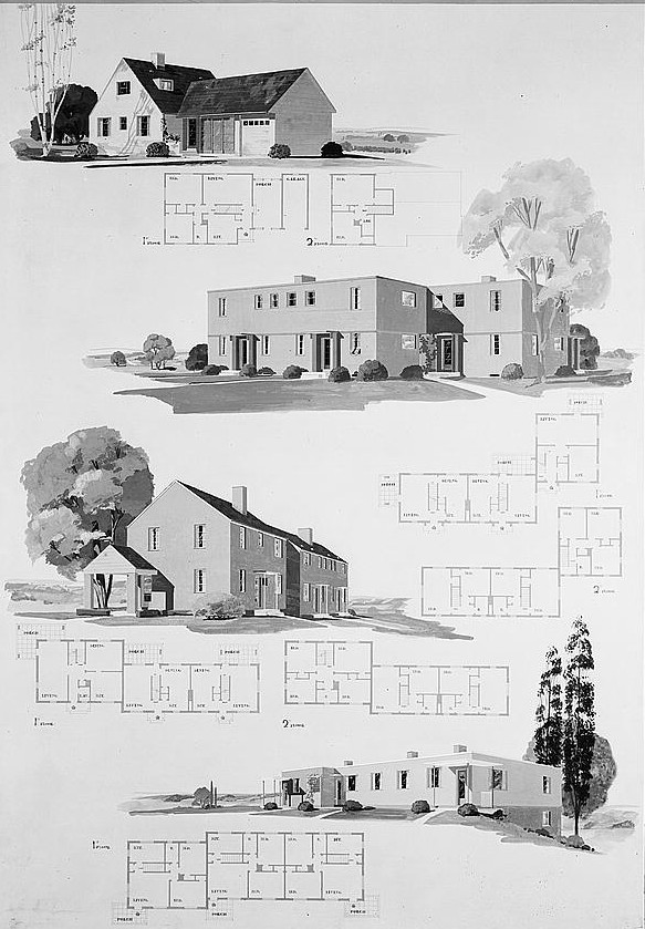 House plans for resettlement project. Greenhills, Ohio 1936