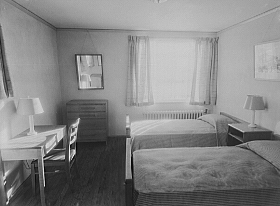 Interior of bedroom. Greenhills, Ohio Jan 1938, by John Vachon