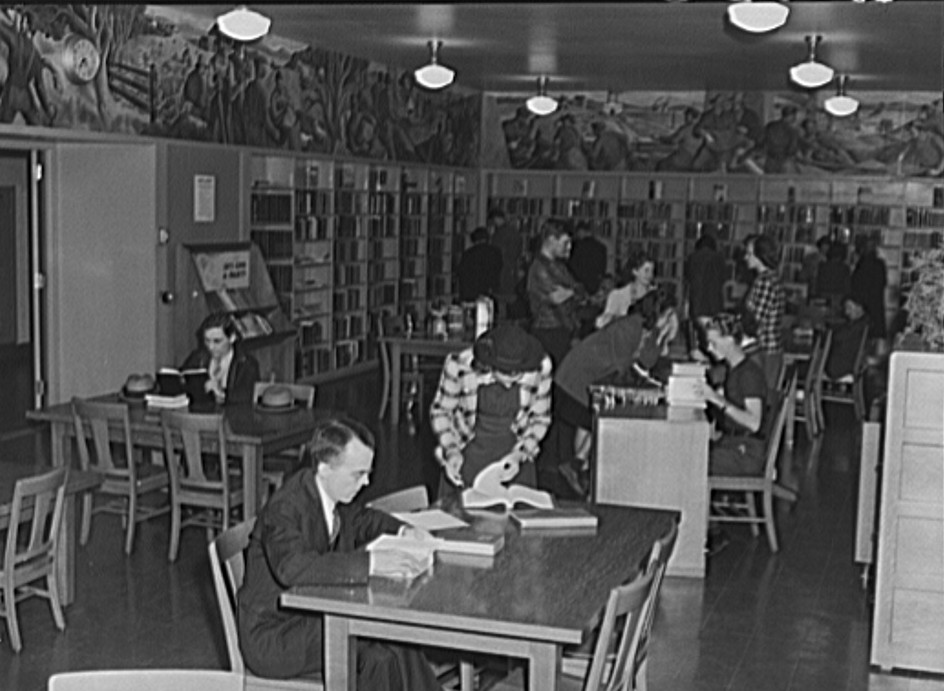 Library at Greenhills, Ohio October 1939 by photographer John Vachon 2