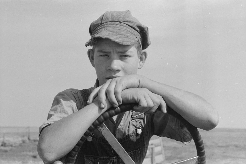 Son of Mr. Germeroth, FSA (Farm Security Administration) client in Sheridan County, Kansas russell lee 1939
