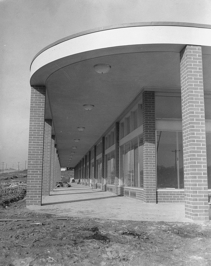Store building. Greenhills, Ohio Jan. 1938 by photographer John Vachon