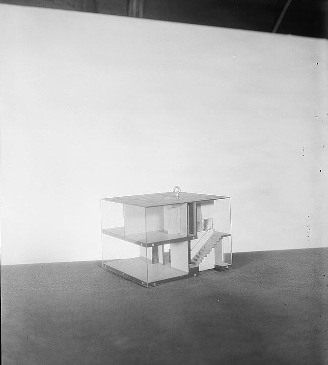 Unit model, detached house. Greenhills project, Ohio 1936