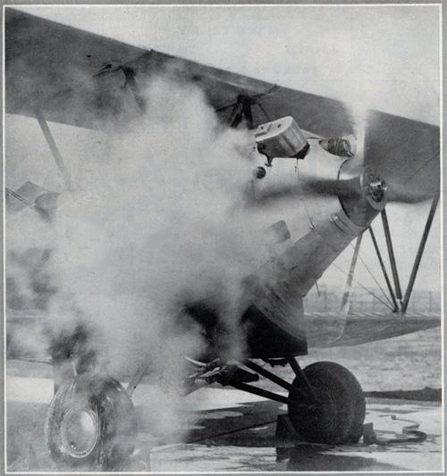 Besler steam-powered airplane