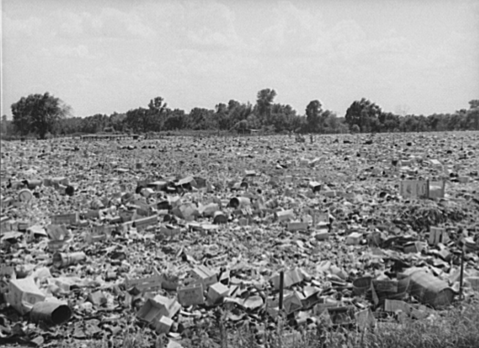 City dump, Oklahoma City, Oklahoma. It was on top of such as this that the Mays Avenue camp was built