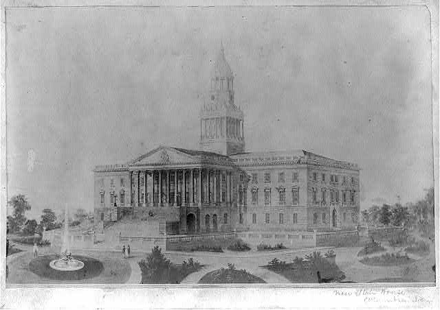 Columbia, South Carolina State House 1861, from Library of Congress