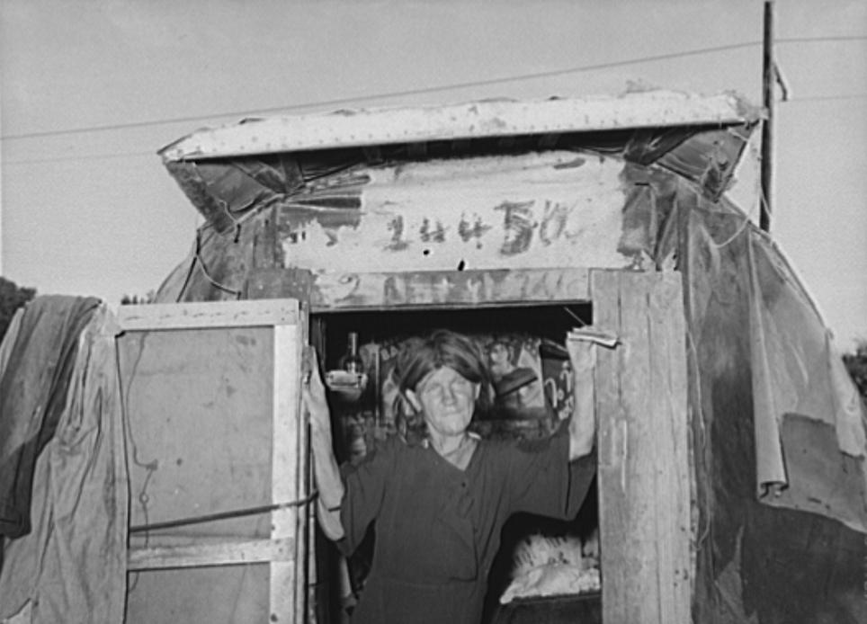 Woman living in camp near Mays Avenue. Oklahoma City, Oklahoma2