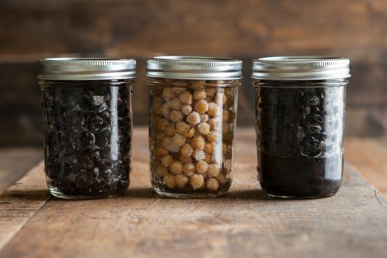 beans in jars
