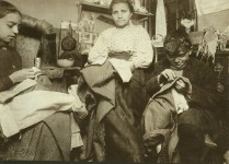 Garment workers often worked from home in early 1900s