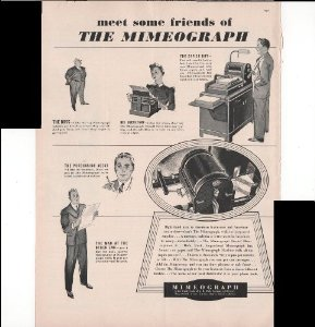 mimeograph 1939
