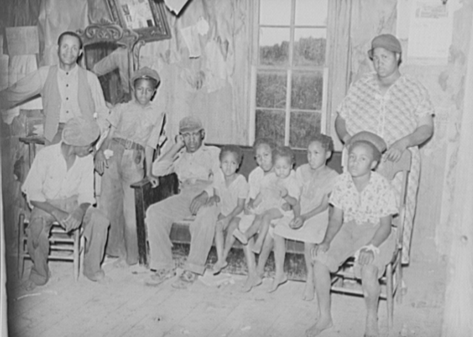 Sharecropper family living near Southeast, Missouri farms by Photographer