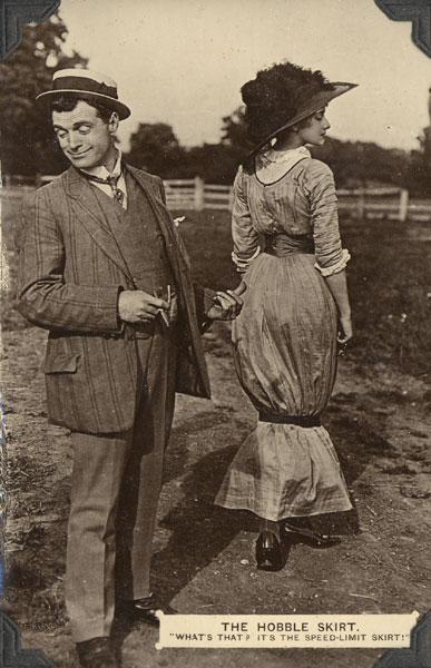 Hobble skirt from Wikipedia