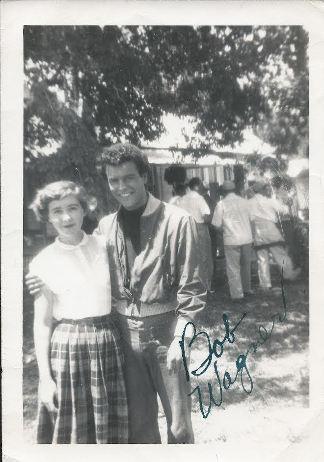 Francine Larson with Robert Wagner