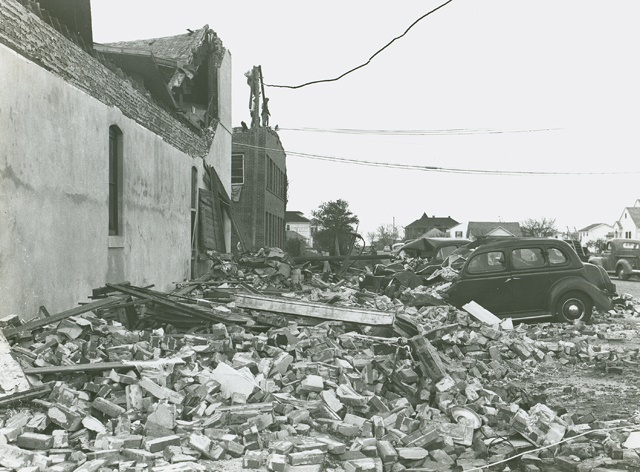 1943 Hurricane damage - Lucas Cafe