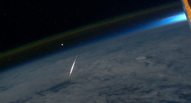 Meteor from International space station 2011