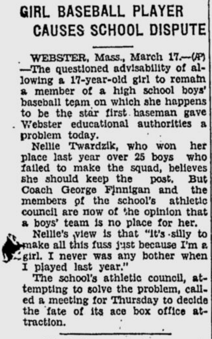 Girl baseball player March 17, 1936 in Mass. (2)